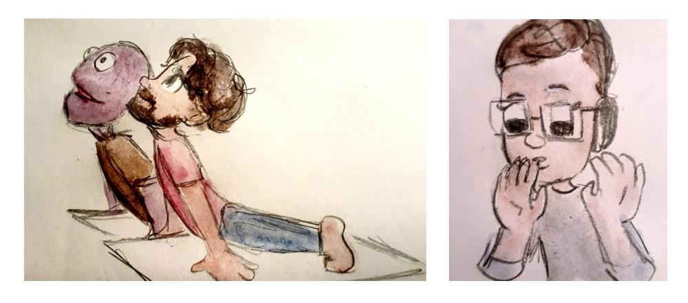 Leedy Corbin's watercolours